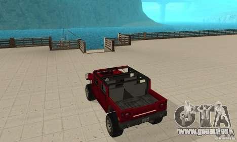 Hummer Civilian Vehicle 1986 für GTA San Andreas zurück linke Ansicht