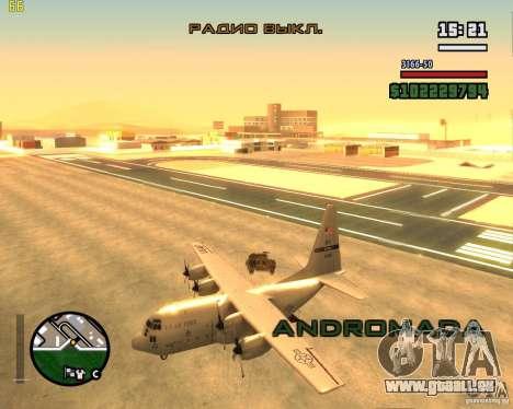 C-130 hercules pour GTA San Andreas vue de droite