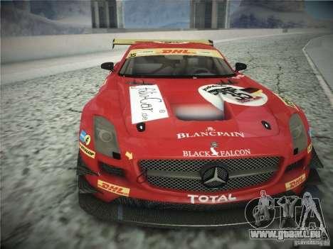 Mercedes-Benz SLS AMG GT3 Black Falcon 2011 pour GTA San Andreas laissé vue