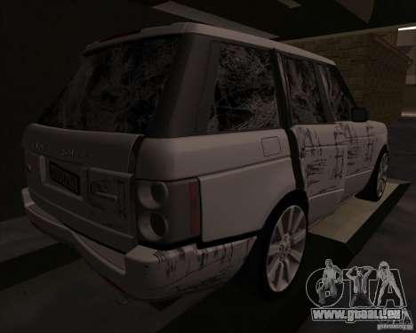 Land Rover Range Rover Supercharged pour GTA San Andreas vue intérieure
