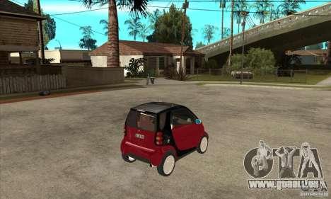 Smart pour GTA San Andreas vue de droite