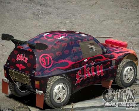 Mitsubishi Pajero Proto-Dakar EK86 Vinyl 4 für GTA 4 hinten links Ansicht