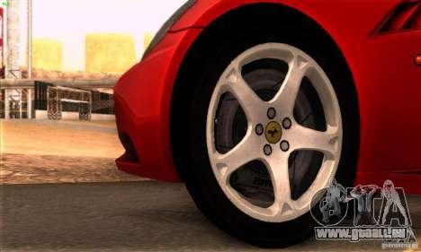 Ferrari California V3 pour GTA San Andreas vue intérieure