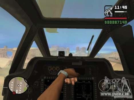AH-64D Longbow Apache pour GTA San Andreas laissé vue