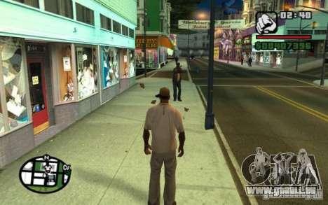 Jeter en passants par les ordures pour GTA San Andreas deuxième écran