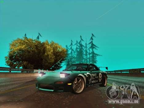 Mazda RX7 rEACT pour GTA San Andreas laissé vue
