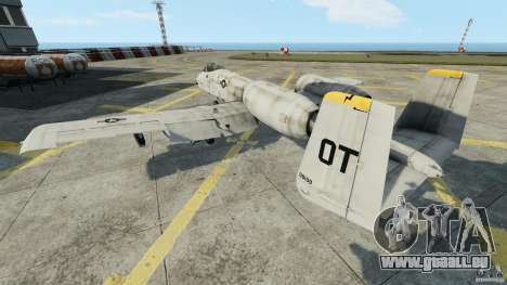 A-10A Thunderbolt II pour GTA 4 Vue arrière de la gauche