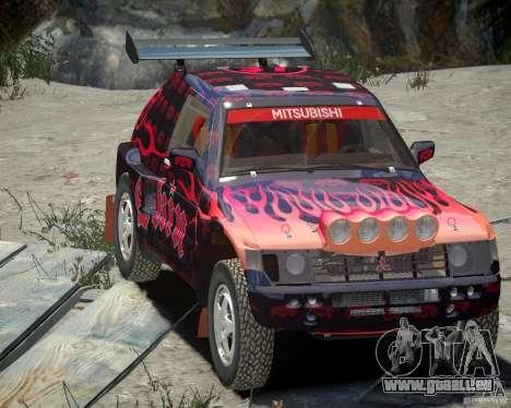 Mitsubishi Pajero Proto Dakar EK86 vinyle 4 pour GTA 4 vue de dessus