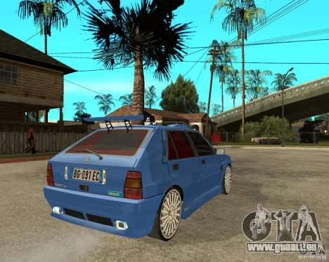 Lancia Delta Sparco für GTA San Andreas zurück linke Ansicht