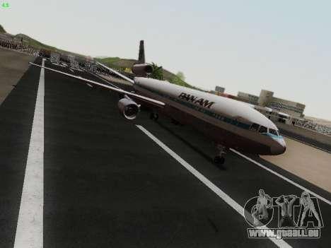 McDonell Douglas DC-10-30 PanAmerican Airways pour GTA San Andreas sur la vue arrière gauche