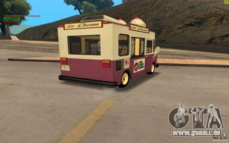 Chevrolet Forvard Control 20 Ice Cream pour GTA San Andreas laissé vue