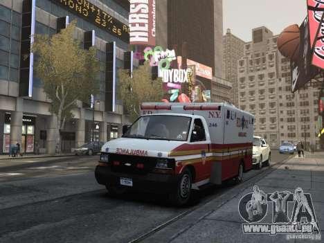 Chevrolet Ambulance FDNY v1.3 pour GTA 4 est une vue de l'intérieur