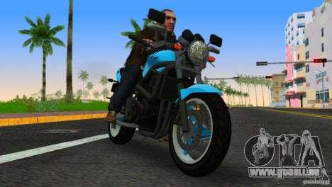 PCJ 600 pour GTA Vice City sur la vue arrière gauche