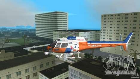 Eurocopter As-350 TV Neptun pour une vue GTA Vice City de l'intérieur