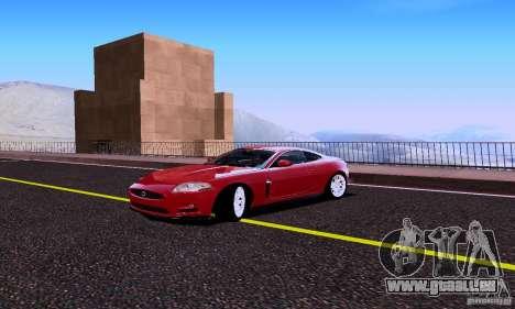 Jaguar XKRS für GTA San Andreas Rückansicht