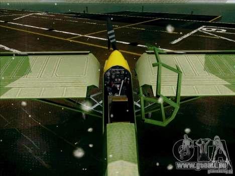 Fi-156 pour GTA San Andreas vue intérieure