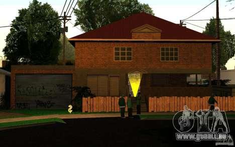 Maison Neuve sur Grove Street CJ pour GTA San Andreas troisième écran