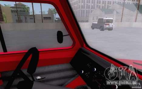 Camion de remorquage LuAZ 13021 pour GTA San Andreas vue de droite