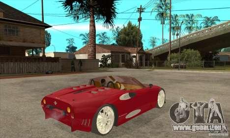 Spyker C8 Spyder pour GTA San Andreas vue de droite