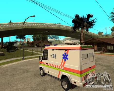 Mercedes-Benz Vario 512 D Ambulamce für GTA San Andreas linke Ansicht