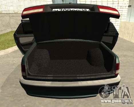 Volga GAZ 3110 pour GTA San Andreas vue intérieure