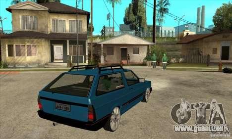 VW Parati GLS 1989 JHAcker edition pour GTA San Andreas vue de droite