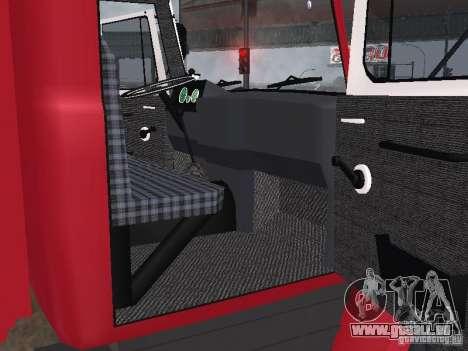 Feu GAZ 3309 pour GTA San Andreas vue arrière