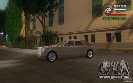 Rolls-Royce Phantom EWB pour GTA San Andreas vue intérieure