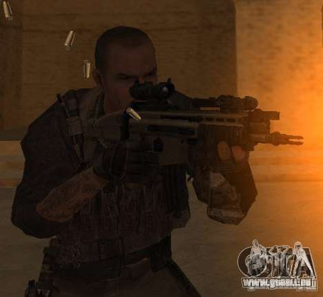 Yuri depuis Call of Duty : Modern Warfare 3 pour GTA San Andreas troisième écran