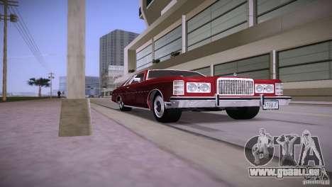 Ford LTD Brougham Coupe pour GTA Vice City sur la vue arrière gauche