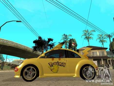 Volkswagen Beetle Pokemon pour GTA San Andreas laissé vue
