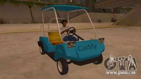 Golf kart pour GTA San Andreas vue arrière