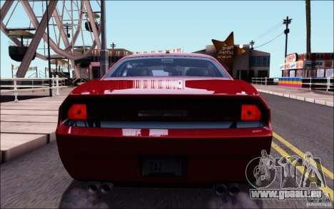 Dodge Challenger Rampage Customs pour GTA San Andreas vue de dessus