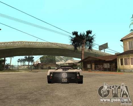Pagani Zonda F pour GTA San Andreas laissé vue