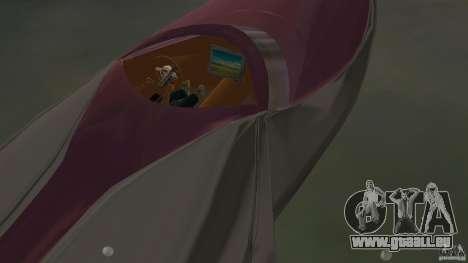 Bugatti Sang Bleu Speedboat pour GTA Vice City vue arrière