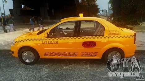 Dacia Logan Facelift Taxi für GTA 4 linke Ansicht
