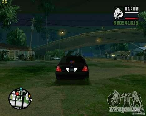 Ford Crown Victoria FBI pour GTA San Andreas vue de droite