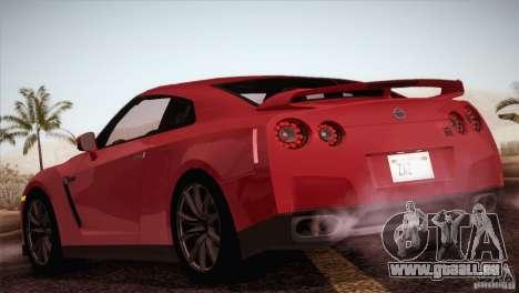 Nissan GTR Black Edition pour GTA San Andreas vue de droite