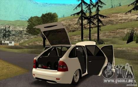 Lada Priora 2172 Schrägheck für GTA San Andreas Innenansicht