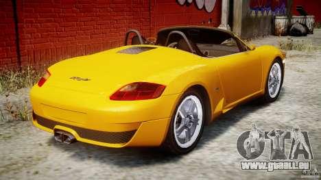 Ruf RK Spyder v0.8Beta pour GTA 4 vue de dessus