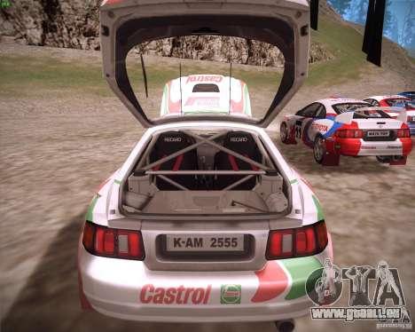 Toyota Celica ST-205 GT-Four Rally für GTA San Andreas Rückansicht