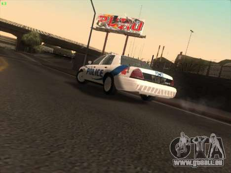 Ford Crown Victoria Vancouver Police für GTA San Andreas Innenansicht