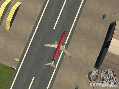 Embraer ERJ 190 Virgin Blue pour GTA San Andreas vue arrière