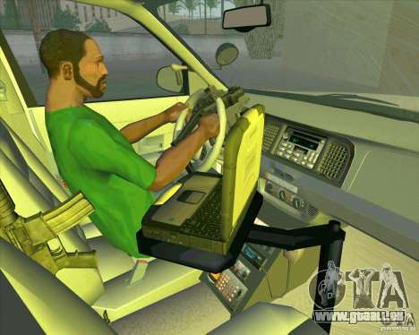 Ford Crown Victoria 2003 NYPD police V2.0 pour GTA San Andreas vue de côté