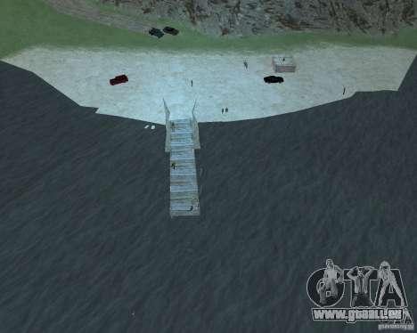 La plage animée de Palomino Creek pour GTA San Andreas troisième écran