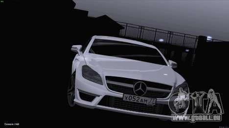 Mercedes-Benz CLS 63 AMG für GTA San Andreas zurück linke Ansicht
