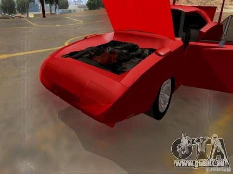 Dodge Charger Daytona 440 für GTA San Andreas Innenansicht