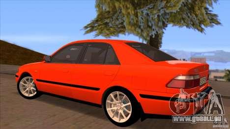 Mazda 626 Stock pour GTA San Andreas vue intérieure