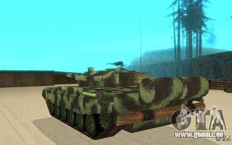 Char T-72 pour GTA San Andreas sur la vue arrière gauche