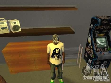 T-shirt Bob Marley pour GTA San Andreas